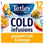 Tetley Cold Infusions Passionfruit and Mango 12 Pack