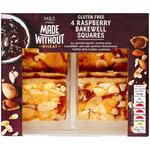 Marks and Spencer Made Without Wheat Raspberry Bakewell Squares 4 Pack 160g