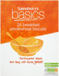 Sainsburys Basics Wholewheat Biscuits 24x18g