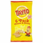 Tayto Cheese And Onion Potato Crisps 6 x 25g