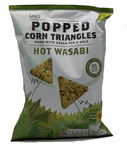 Marks and Spencer Popped Corn Triangles Hot Wasabi 70g