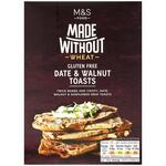 Marks and Spencer Made Without Wheat Date and Walnut Toasts 125g