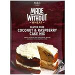 Marks and Spencer Made Without Wheat Coconut and Raspberry Cake Mix 430g