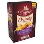 Cathedral City Crumbly Bites Cheddar Biscuits Red Onion 100g