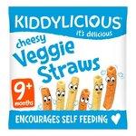 Kiddylicious Cheesy Veggie Straws 12g