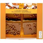 Marks and Spencer Salted Caramel Millionaires Shortbread 4 Pack 220g