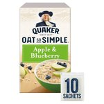 Quaker Oat So Simple Apple and Blueberry 360g 10 Sachets