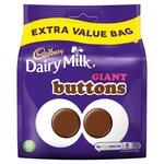 Cadbury Dairy Milk Giant Buttons Chocolate Extra Value Bag 330g