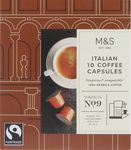 Marks and Spencer 10 Coffee Capsules Italian