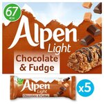 Alpen Light Chocolate and Fudge Cereal Bar 5x21g
