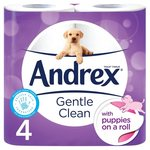 Andrex Gentle Clean Toilet Tissue 4 per pack