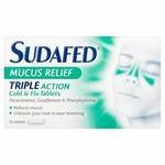 Sudafed Mucus Relief Tablets 16 Tablets