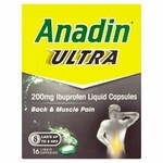 Anadin Ultra Liquid Capsules 200mg 16s