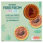 Sainsburys Free From Pecan Tarts 4 Pack