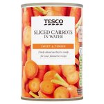 Tesco Sliced Carrots in Water 300g