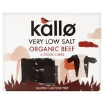 Kallo Organic Low Salt Beef Stock Cubes x 6