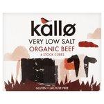 Kallo Organic Low Salt Beef Stock Cubes x 6