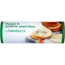 Sainsburys Poppy and Sesame Biscuit 150g
