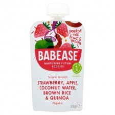 Babease Organic Strawberry Apple Coconut Water Brown Rice and Quinoa 100g