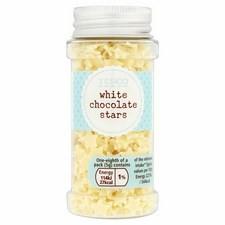 Tesco White Chocolate Stars 40G