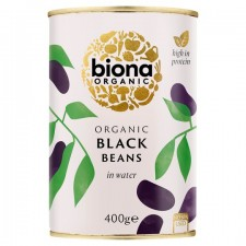 Biona Organic Black Beans in Water 400g