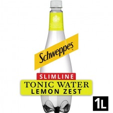 Schweppes Slimline Tonic with Zest of Lemon 1L