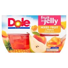 Dole Mixed Fruit in Peach Jelly 4x123g