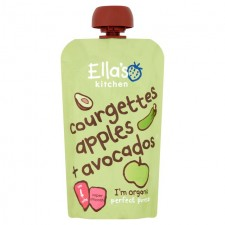 Ellas Kitchen Organic Courgette Apples and Avocados 120g 4 Months