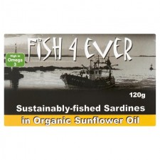 Fish 4 Ever Filleted Sardines in Organic Sunflower Oil 120g