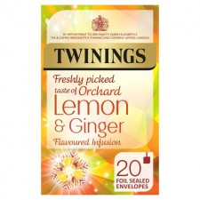 Twinings Fresh Tasting Lemon and Ginger 20 per pack