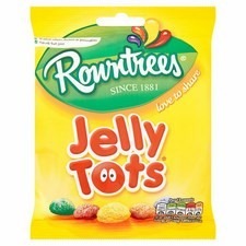 Retail Pack Rowntrees Jelly Tots 12x150g bags