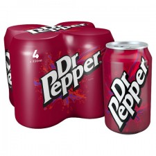 Dr Pepper Regular 4 x 330ml Cans