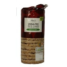 Marks and Spencer Unsalted Rice Cakes 120g