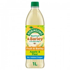 Robinsons Fruit and Barley No Added Sugar Apple and Pear 1L