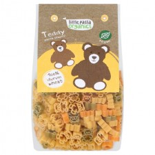 Little Pasta Organics Teddy Shaped Tri Coloured Pasta 250g for Toddlers and Kids