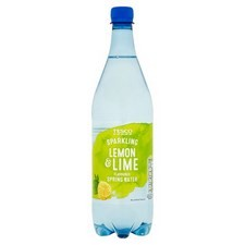 Tesco Lemon and Lime Flavoured Sparkling Water 1 Litre