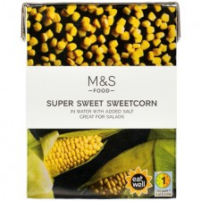 Marks and Spencer Sweetcorn 380g carton