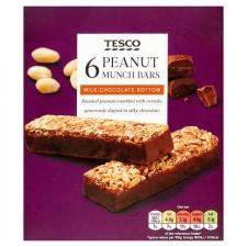 Tesco Peanut Munch Bar 6 Pack