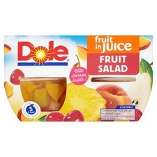 Dole Fruit Salad With Cherry in Fruit Juice 4X113g
