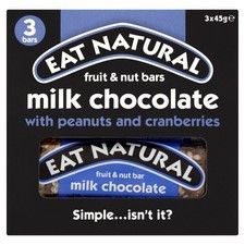 Eat Natural Peanuts And Cranberry Bars 3 Pack