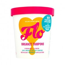 Flo Eco Applicator Organic Cotton Tampons  Regular And Super Combo Pack 14 per pack