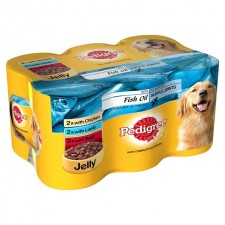 Pedigree Variety Pack with Fish Oil in Jelly 6 x 400g