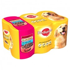 Pedigree Chicken Lamb and Original in Loaf Variety Pack 6 x 400g