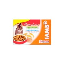 Iams Adult Pouches Meat Selection 12 x 100g