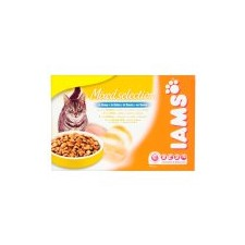 Iams Adult Cat Mixed Meat and Fish Selection In Gravy 12 x 100g