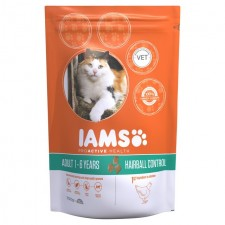 Iams Adult Dry Cat Food Hair Ball Chicken 700g