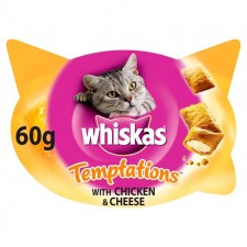 Whiskas Temptations Chicken and Cheese 60g