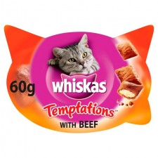 Whiskas Temptations With Beef 60g