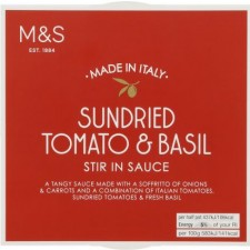 Marks and Spencer Sundried Tomato and Basil Stir In Sauce 150g