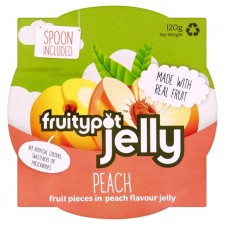 Fruity Pot Jelly Peach in Peach Flavour Jelly 120g